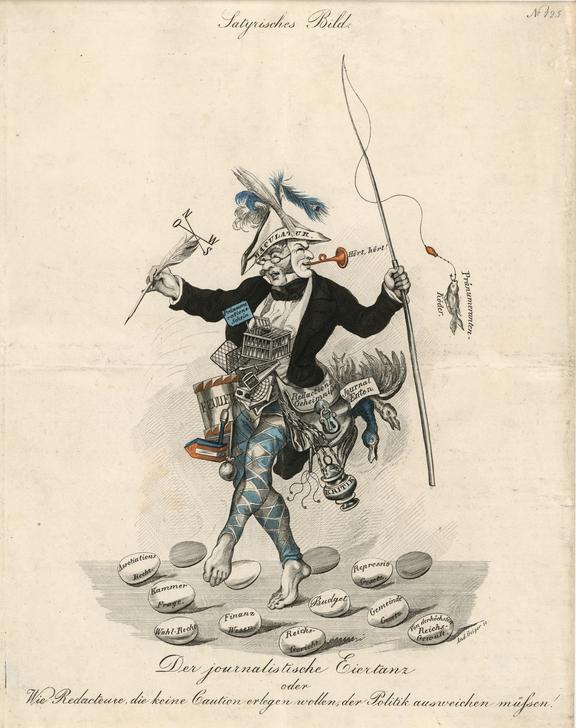 «Журналистский танец яиц», 1840. <br>